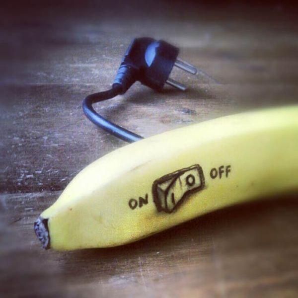 Coole Doodles Auf Bananen Banane Kunst Bananen Kreative Anrichtungsideen