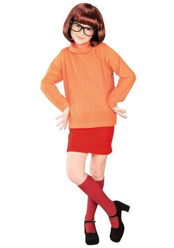 Child Velma Costume - Girls Scooby Doo Halloween Costumes Scooby - halloween costumes for girls ideas