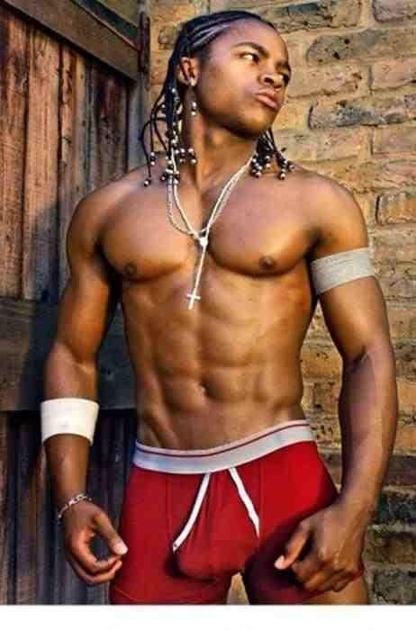 Hot Sexy Gay Man Male Muscles Big Bulge Black