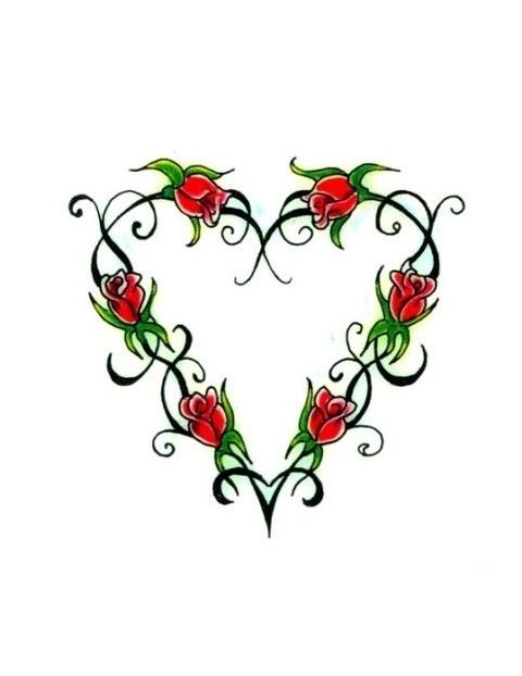 rose tattoo designs - Google Search (With images) | Rose heart tattoo, Rose vine tattoos, Vine ...