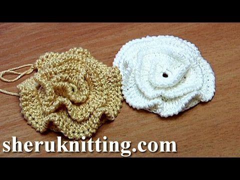 Crochet Fluffy Flower Tutorial 9 Große Blume häkeln - YouTube ...