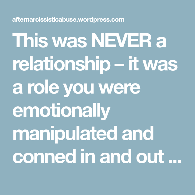 Being conned in a relationship