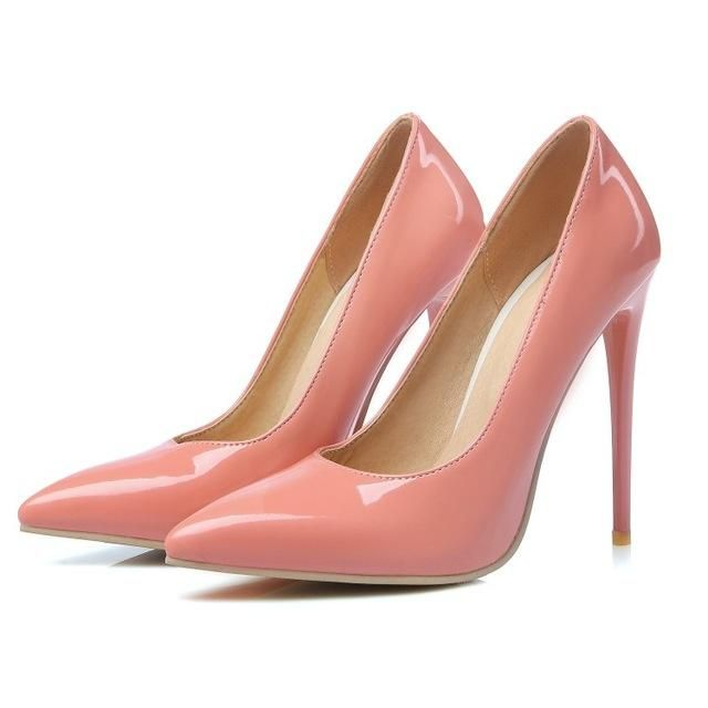 c7ff357ec941 Sweet Female 6022 Brand Shoes Woman High Heeled Pumps Nude High Heels 10 cm 12  cm Women Shoes pinkycolors Wedding party Shoes