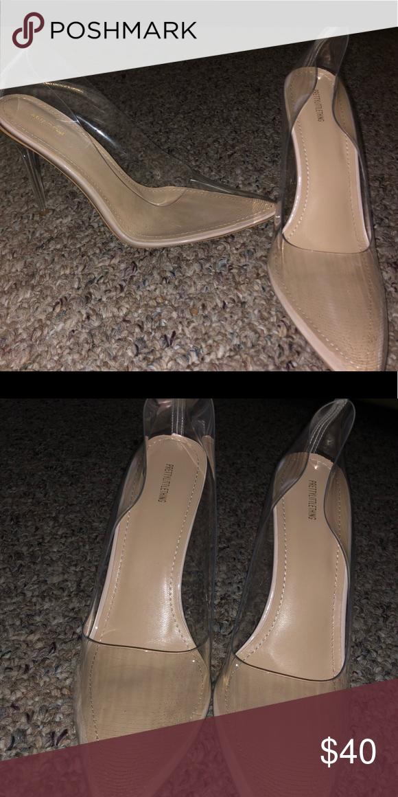 8ca569edcf6 Clear heels Pretty Little thing heels. Never worn. PrettyLittleThing Shoes  Heels