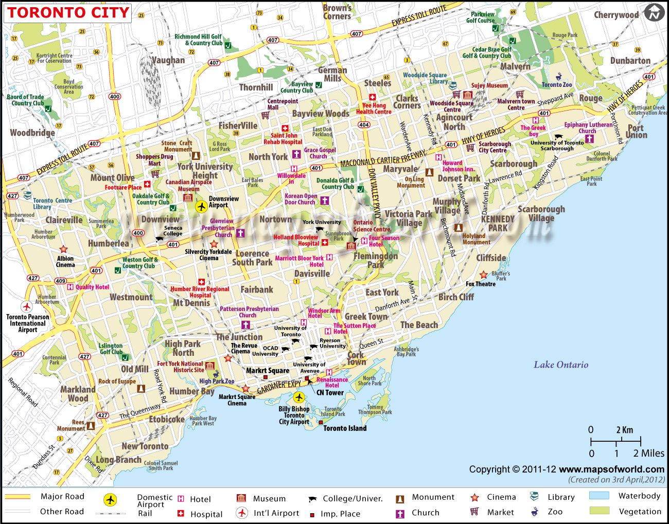 Toronto Map Canada Toronto City #Map | Toronto map, Toronto city, Toronto canada map
