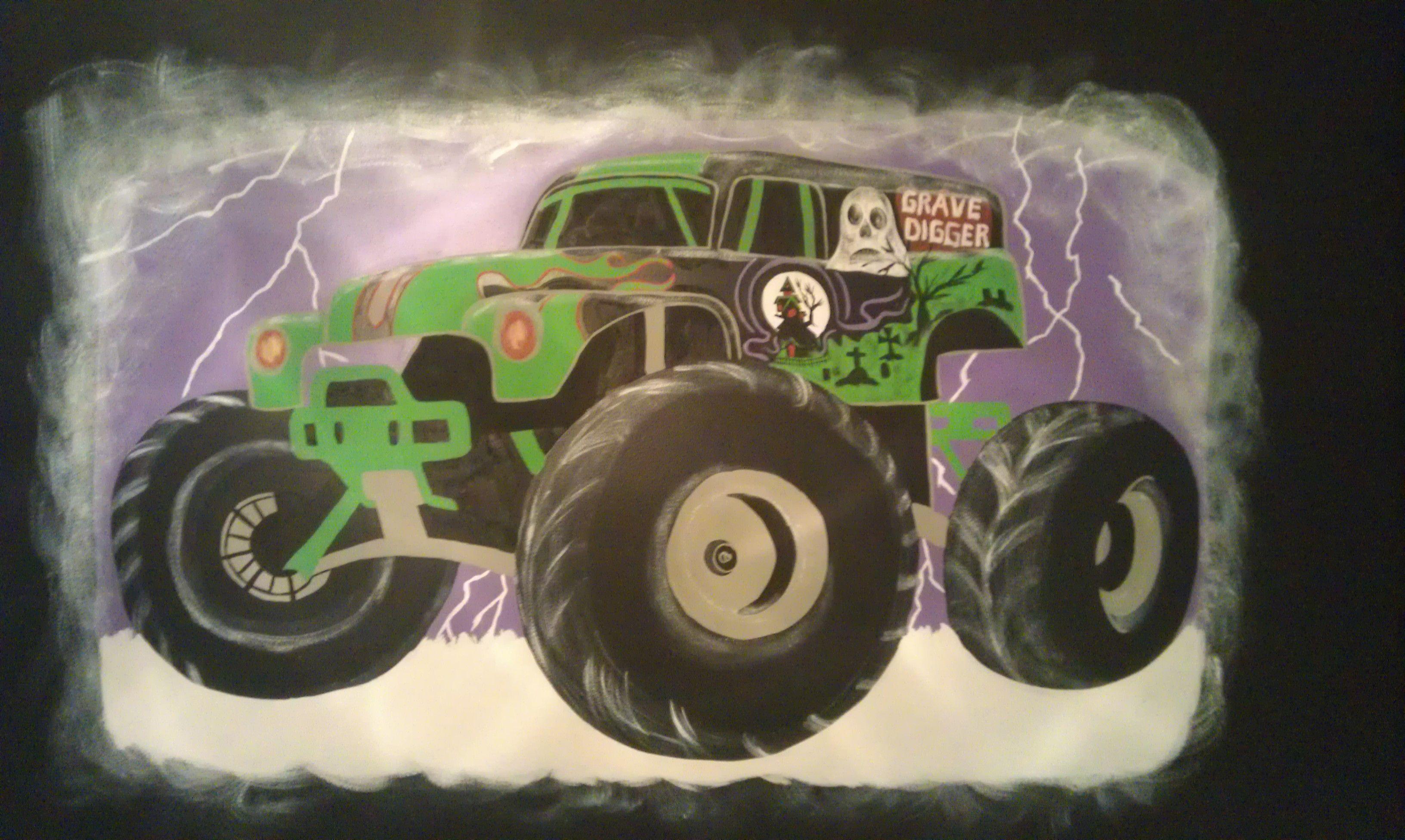 Gravedigger Monster Truck Kids Rooms Diy Diy For Kids Kids Room