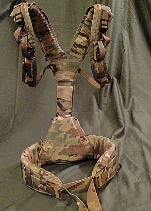 Mystery Ranch Recce harness/LBE in Multicam that was created at the