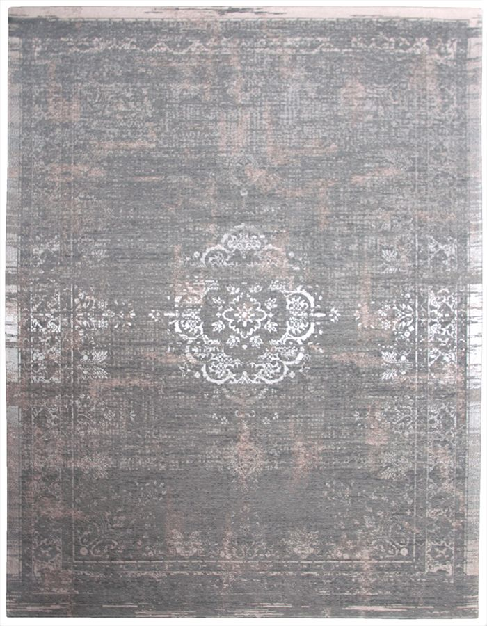 Vintage-Teppich #rosa braun silber #Wohnzimmer #Arbeitszimmer - Teppich Wohnzimmer Braun