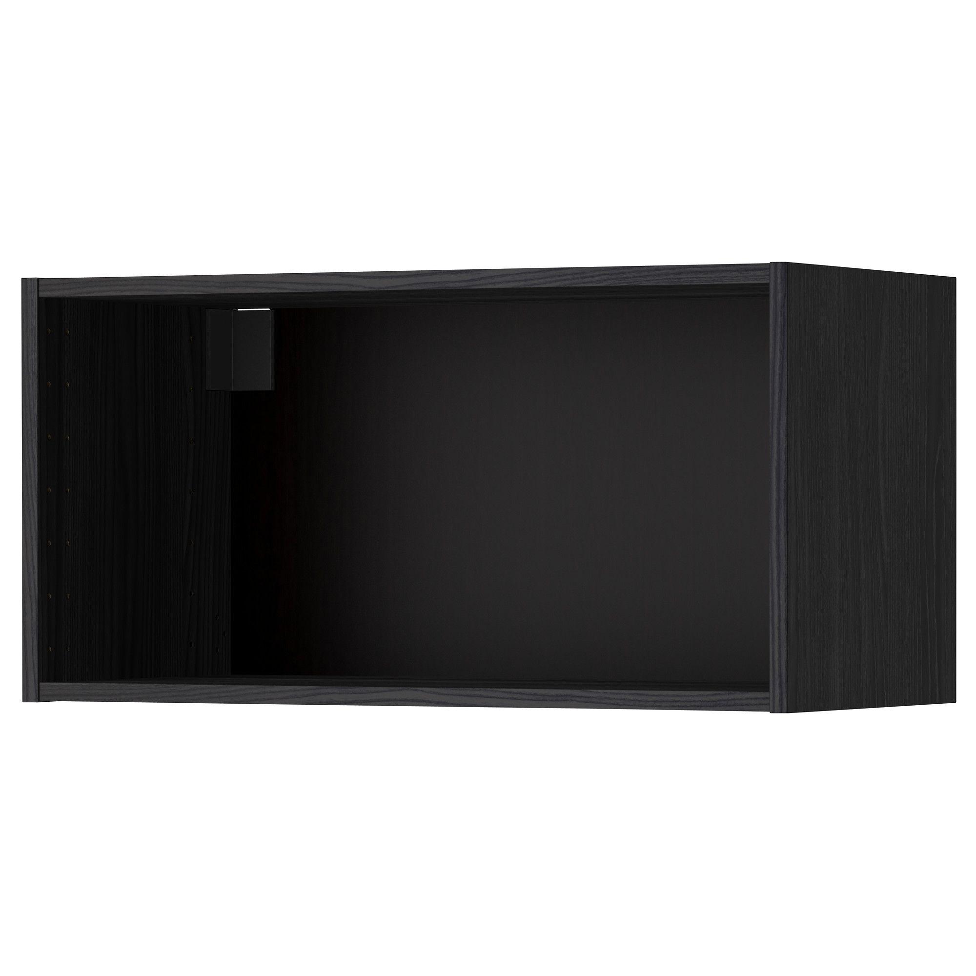 Best Metod Wall Cabinet Frame Wood Effect Black Ikea Ikea 640 x 480