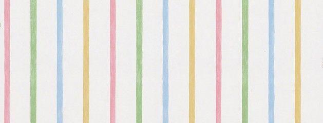 Papel de Parede Infantil – Kid's World – Branco com Listras Coloridas – 443-KA49256