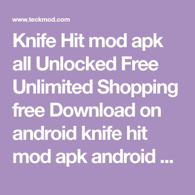 knife hit mod apk unlimited money