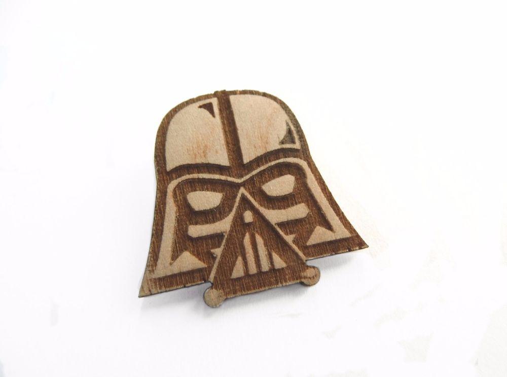 Star wars Darth Vader pin wooden  Brooch giftidea trend wood #Starwars #DarthVader #pin #geek #nerd
