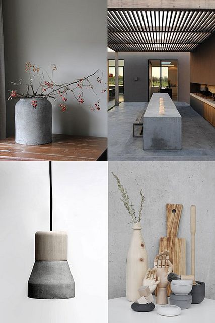 concrete in interiors by the style files, via Flickr  KB example