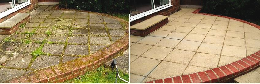 before and after pics diy patio remodel | This image shows how a ...