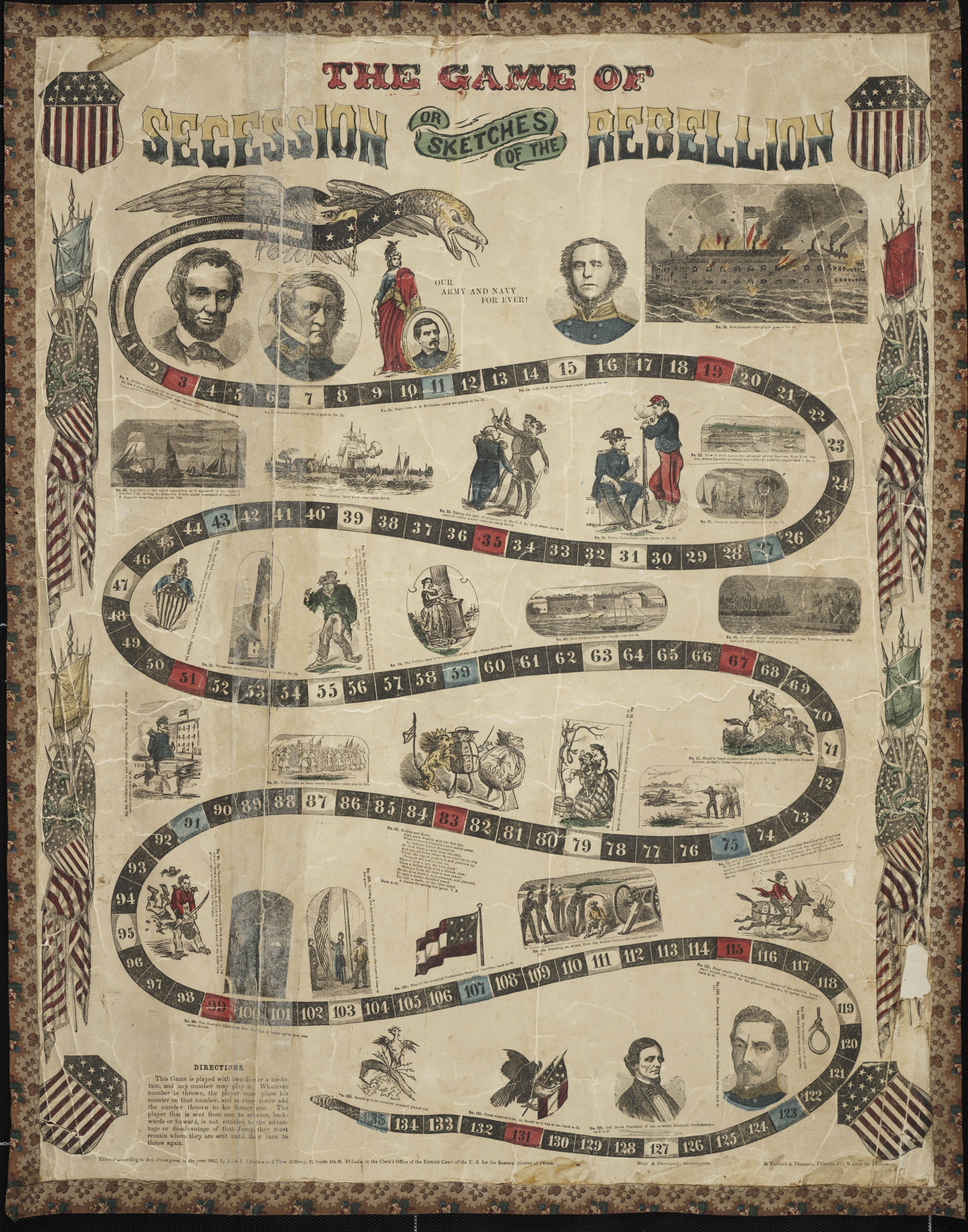 The ProUnion Civil War Board Game That Was the Chutes and