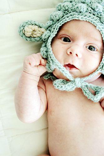 Babymütze häkeln - Lamm | Babymütze, Kostenlos und Anleitungen