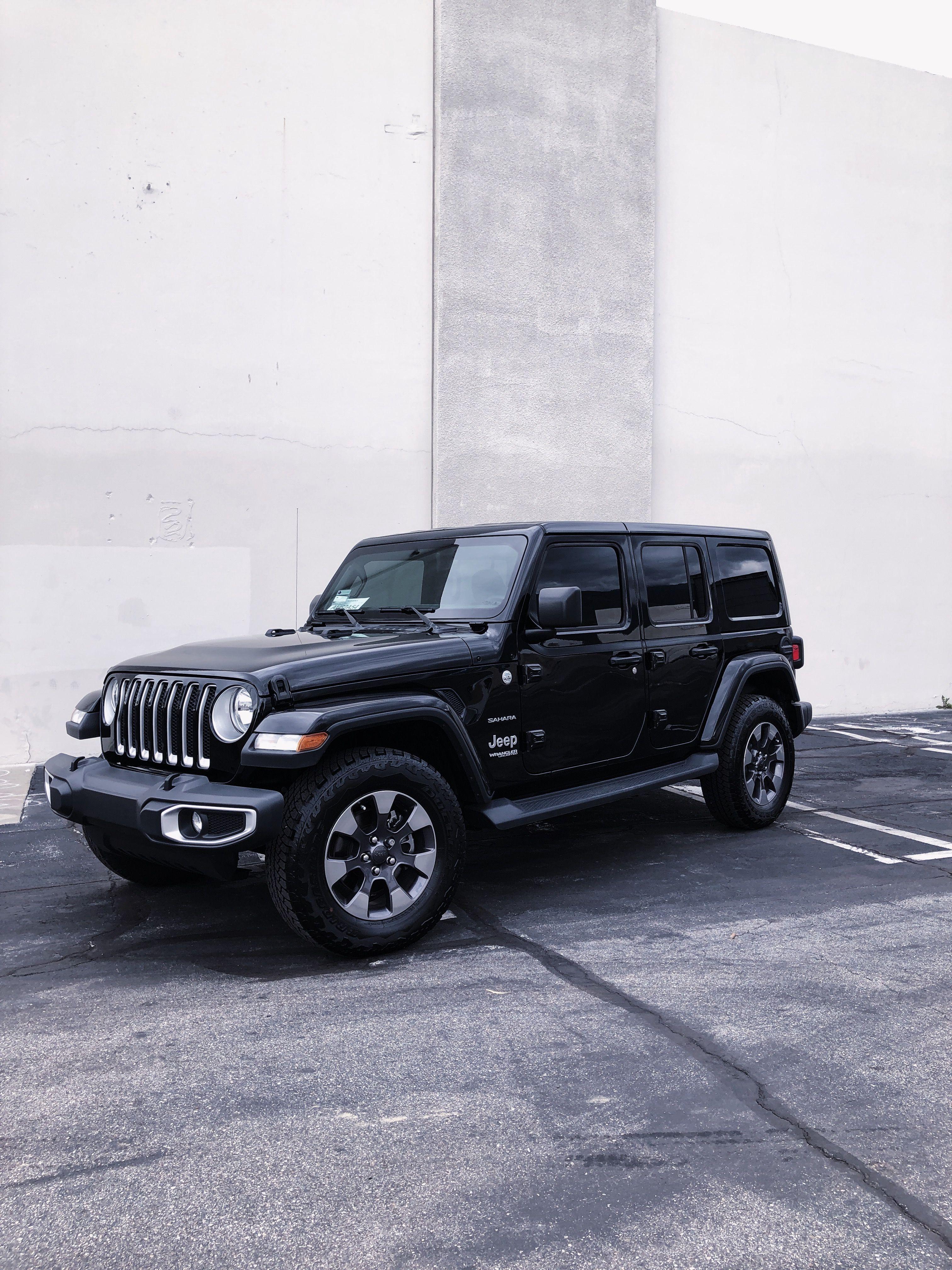 Black Jeep Wrangler Jl Sahara In 2020 Black Jeep Wrangler Black Jeep