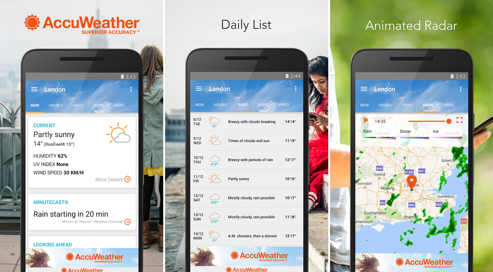 Accuweather App For Android Review Get Latest Weather News And