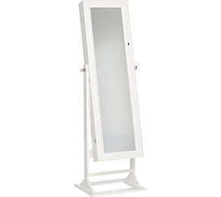 Gold Silver Safekeeper Jewelry Lighted Armoire by Lori Greiner