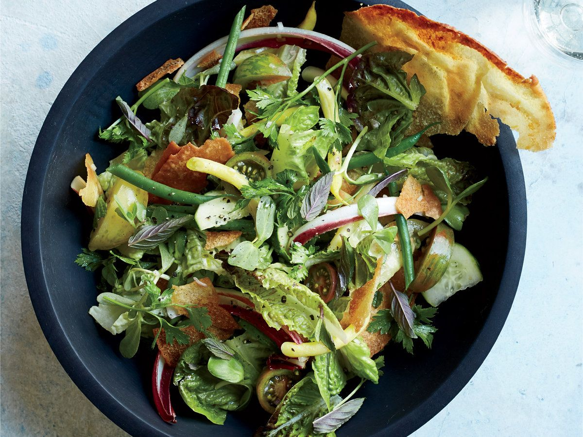 Summer Salad With Herbs And Pita Crisps Recipe Summer Salads