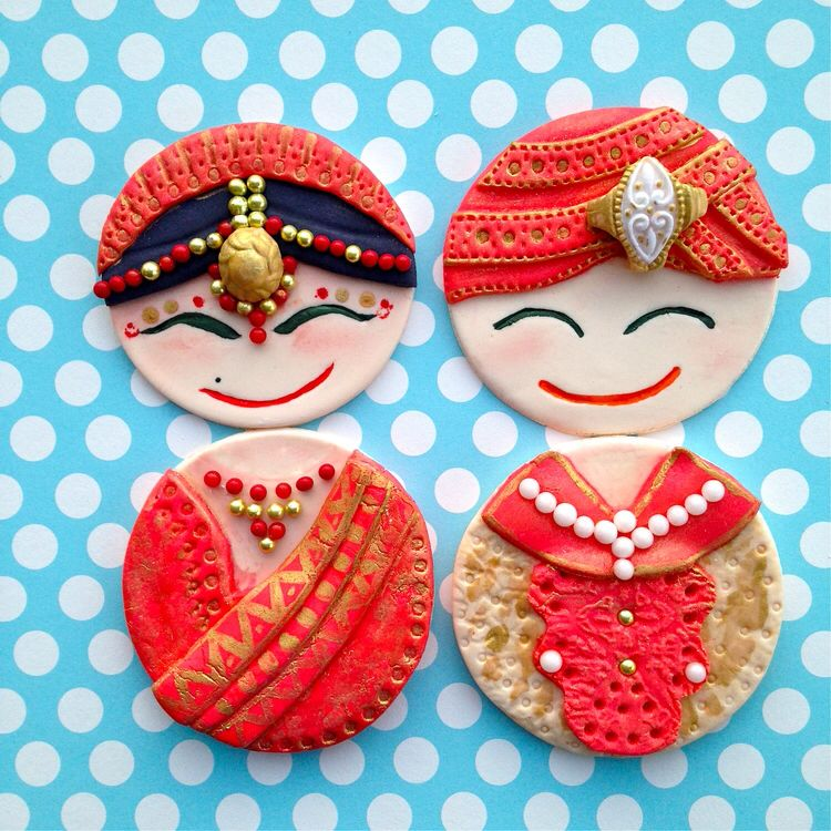 Sikh Wedding Food: Indian Wedding Cupcake Toppers