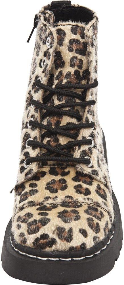 T.U.K. LEOPARD FAUX FUR BOOTS - Shoes - Gals