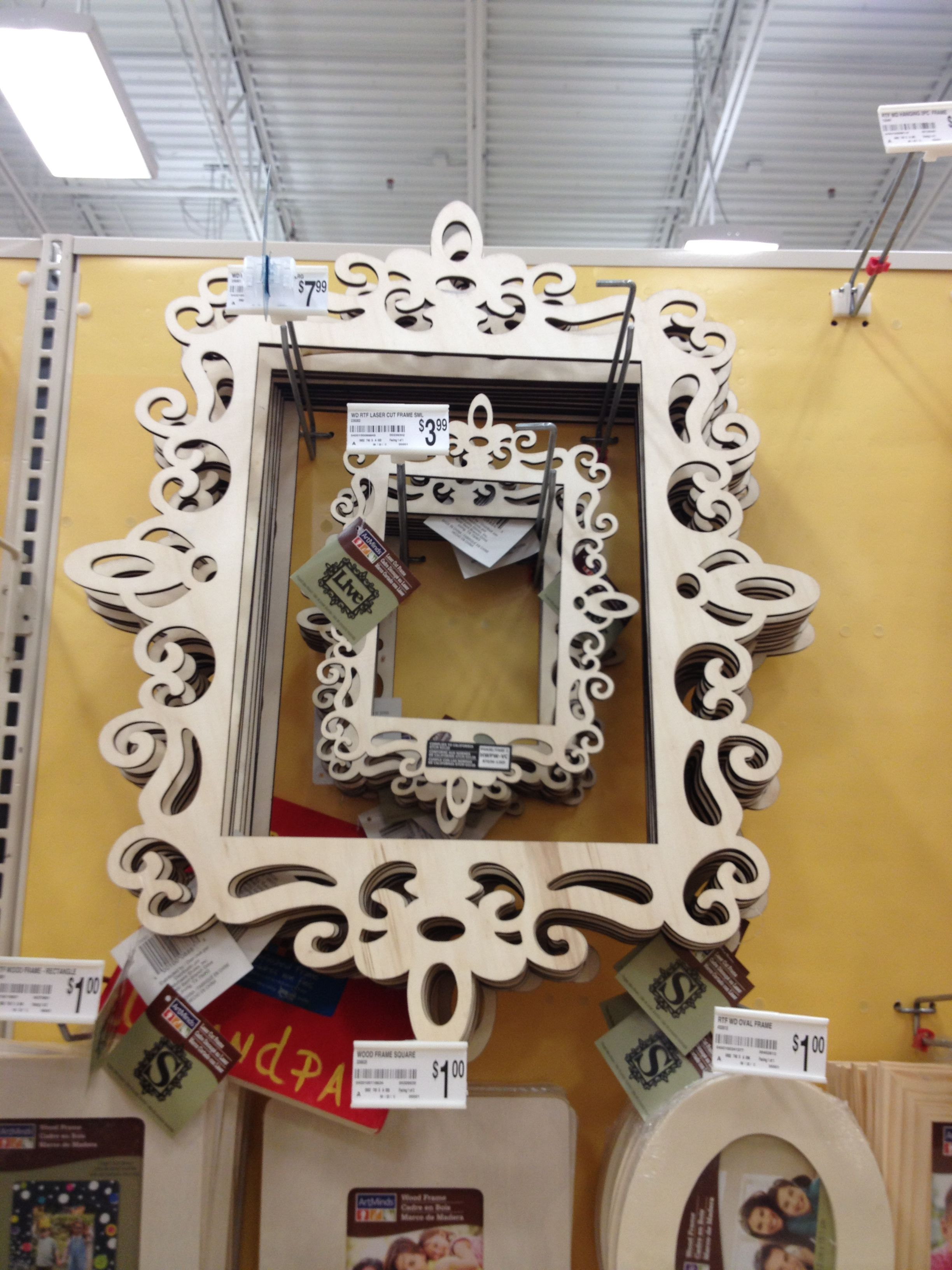 Cute DIY frames from Michael\'s. Maybe for a Photo Booth ...