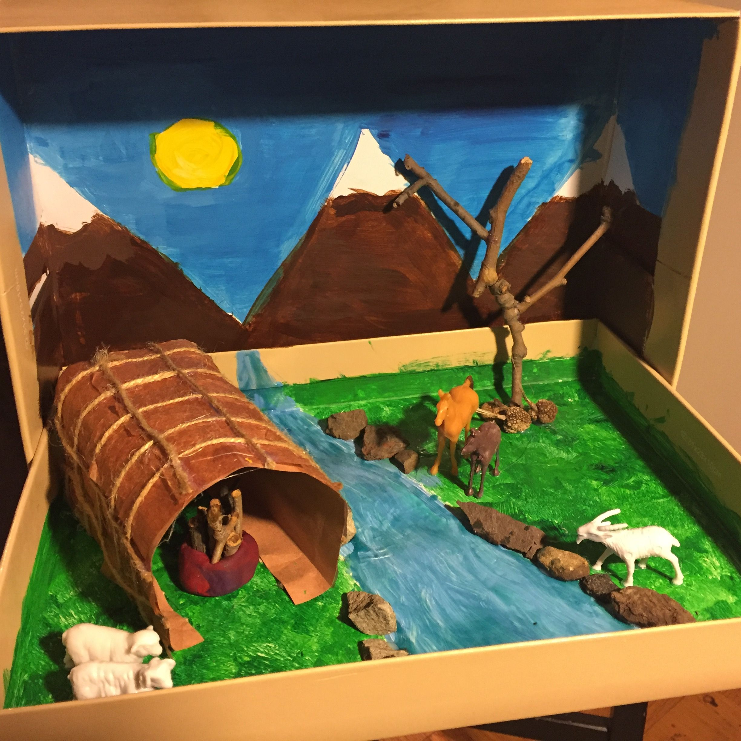 Lenape 3D project by 4th grader Native american projects