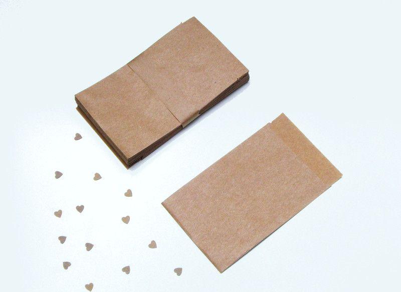 kleine Papiertüten Kraftpapier 50 Stück von iLike_specials aus Berlin auf DaWanda.com