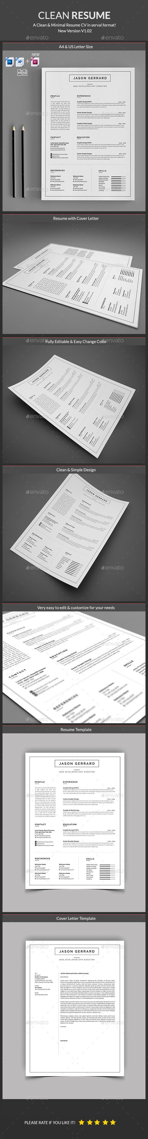 Clean Resume Download%0A Buy Resume by ElegantDesign on GraphicRiver  Minimal and Clean Resume  Template  A Clean Cover Letter  You can show your professionalism only with  a Clean