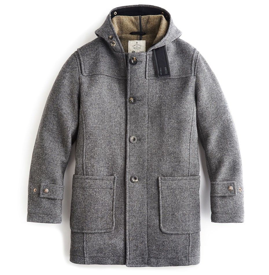 Private White V.C. 100 Grey Wool Men's Duflle Coat