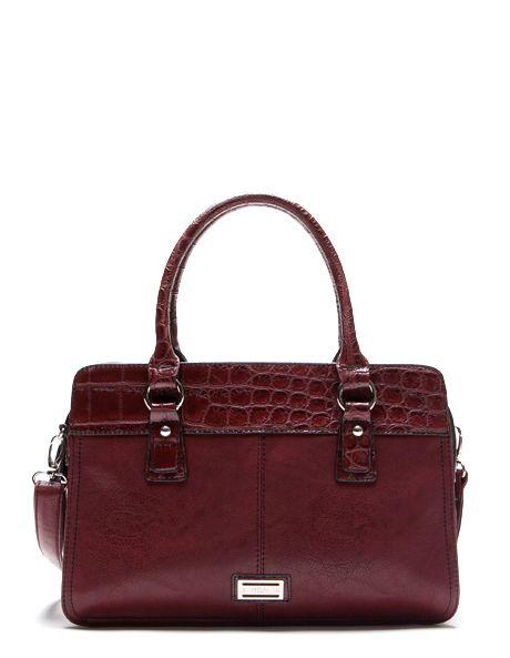 Cellini Sport Char Tote In Burgundy Cs1483 Myer Online Women S Handbags