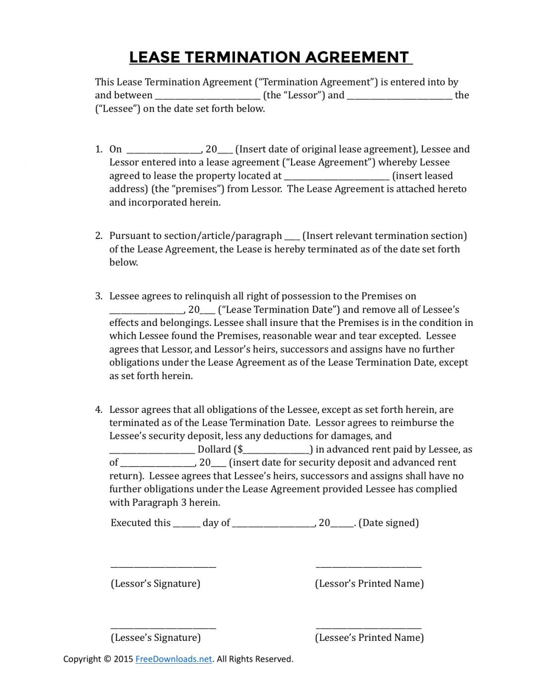 Get Our Image of Cancellation Of Lease Agreement Template