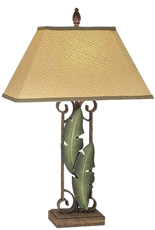 Pacific Coast Lighting Banana Leaves Table Lamp Table Lamp Lamp Tropical Table Lamps