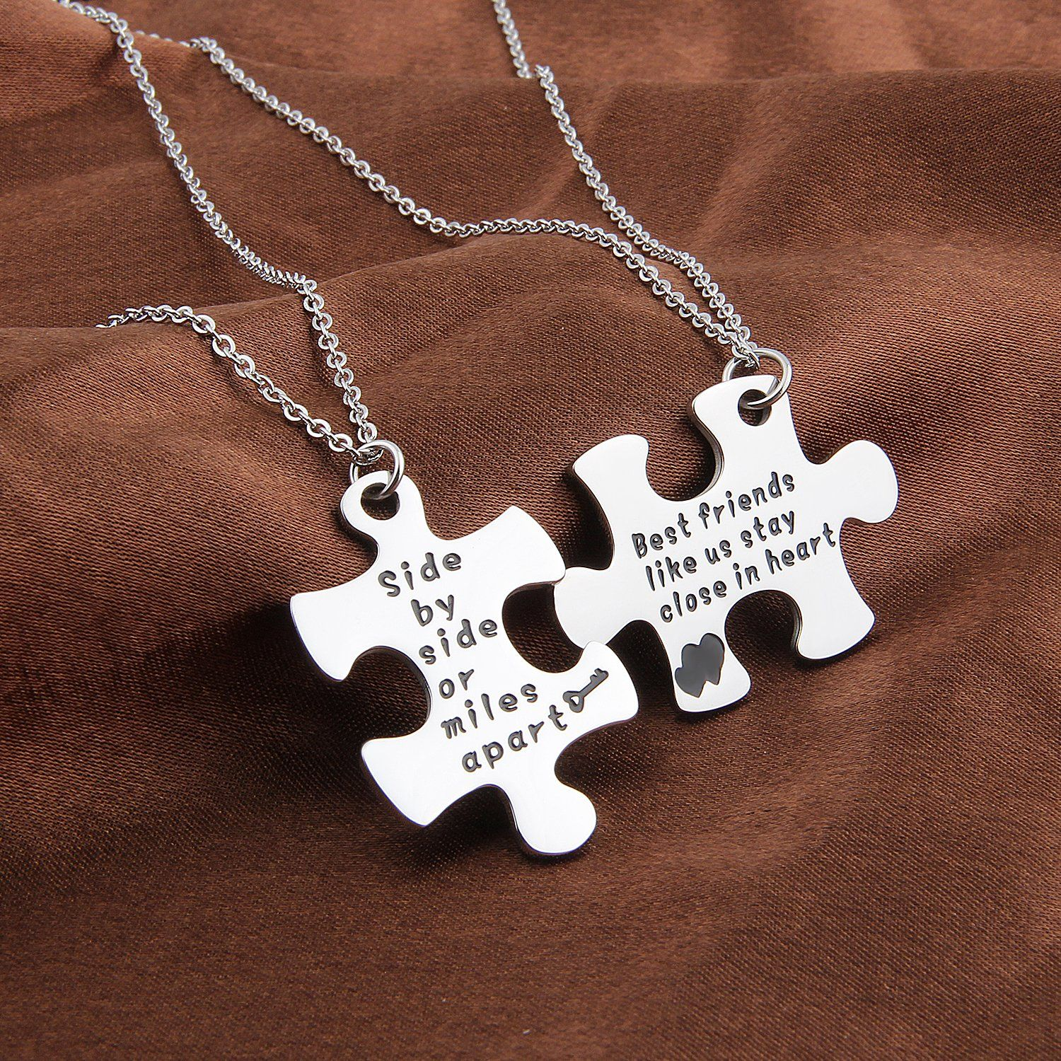 Maofaed Couples Puzzle Keychain Side By Side Or Miles Apart Puzzle