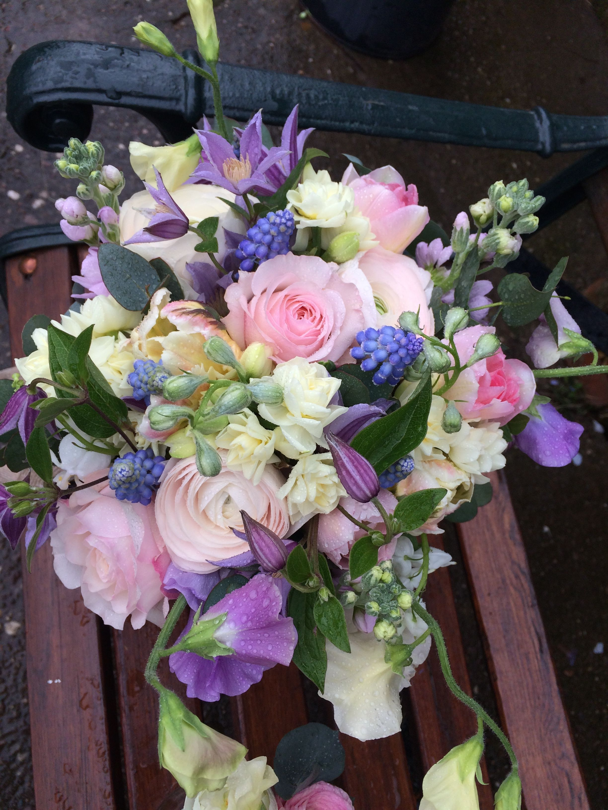 Bride's Bouquet A fragrant Rose, Sweet Pea, and Stock
