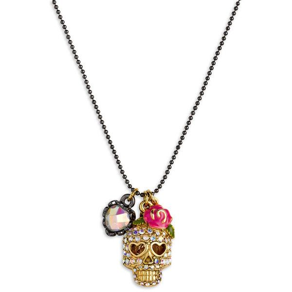 Betsey Johnson 'Skull Charm' Necklace $35