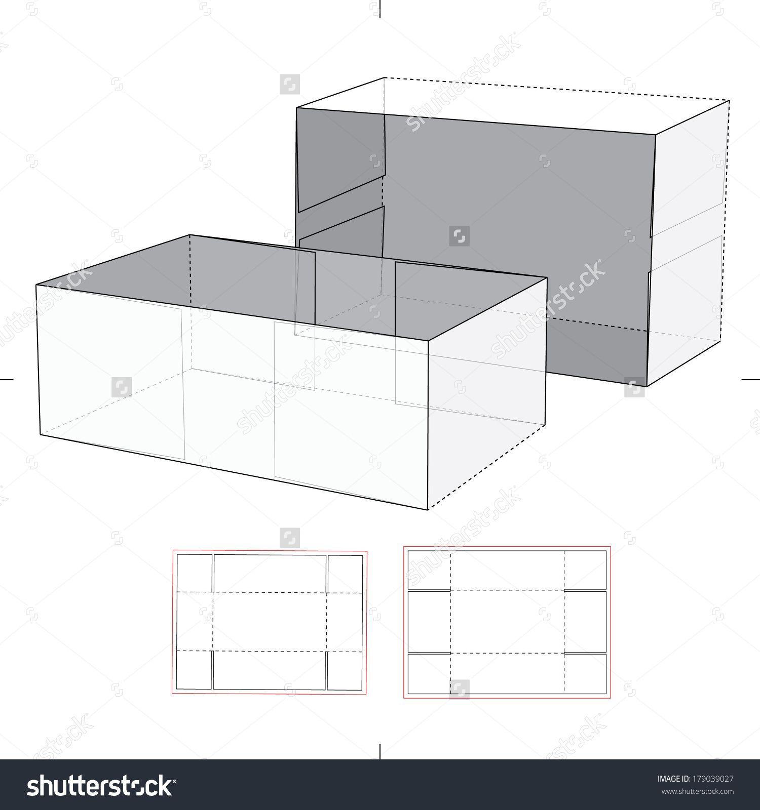 shoe box with die cut pattern stock vector illustration 179039027 shutterstock printable. Black Bedroom Furniture Sets. Home Design Ideas