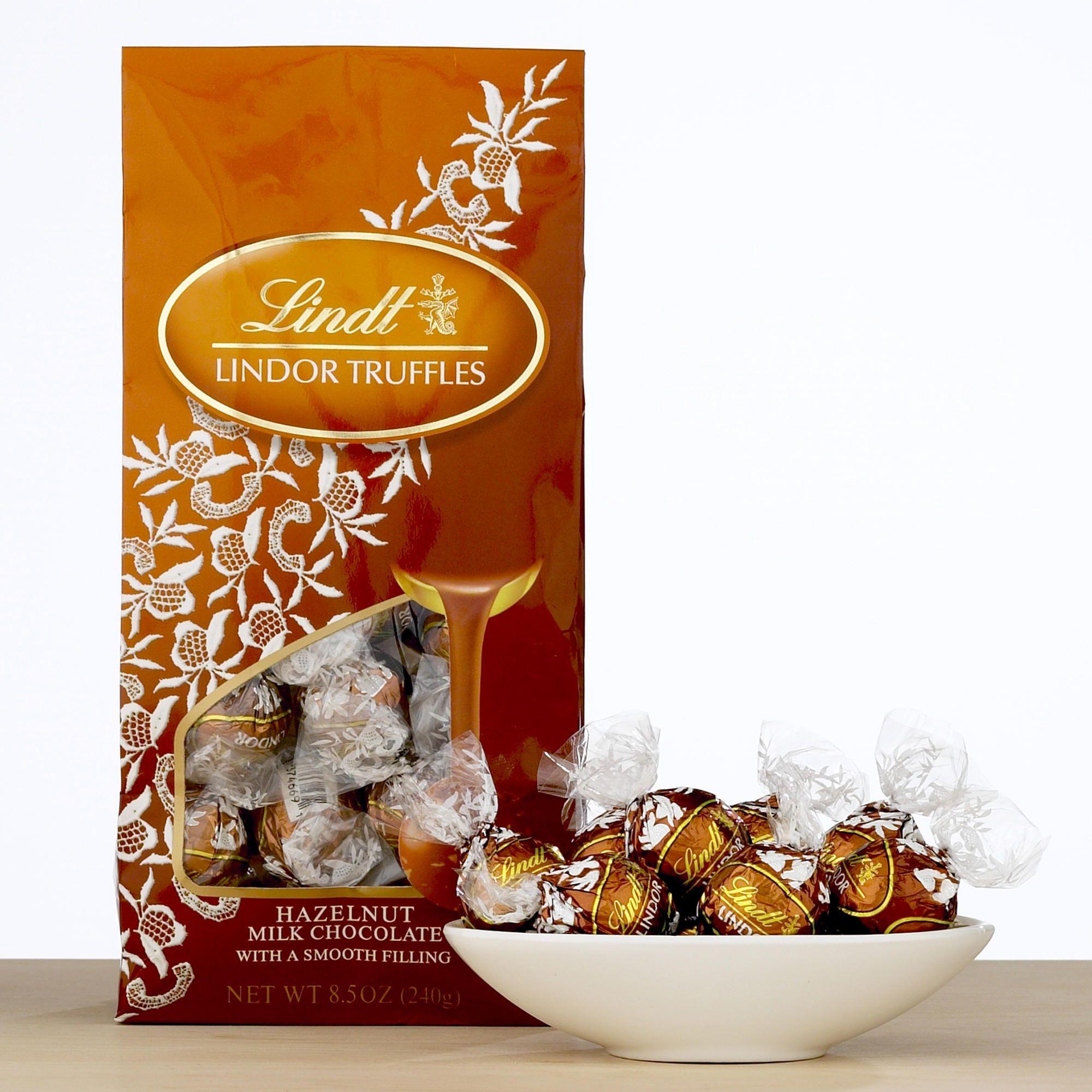 LINDT HAZELNUT MILK CHOCOLATE LINDOR TRUFFLES $4.19 | Yummy food ...