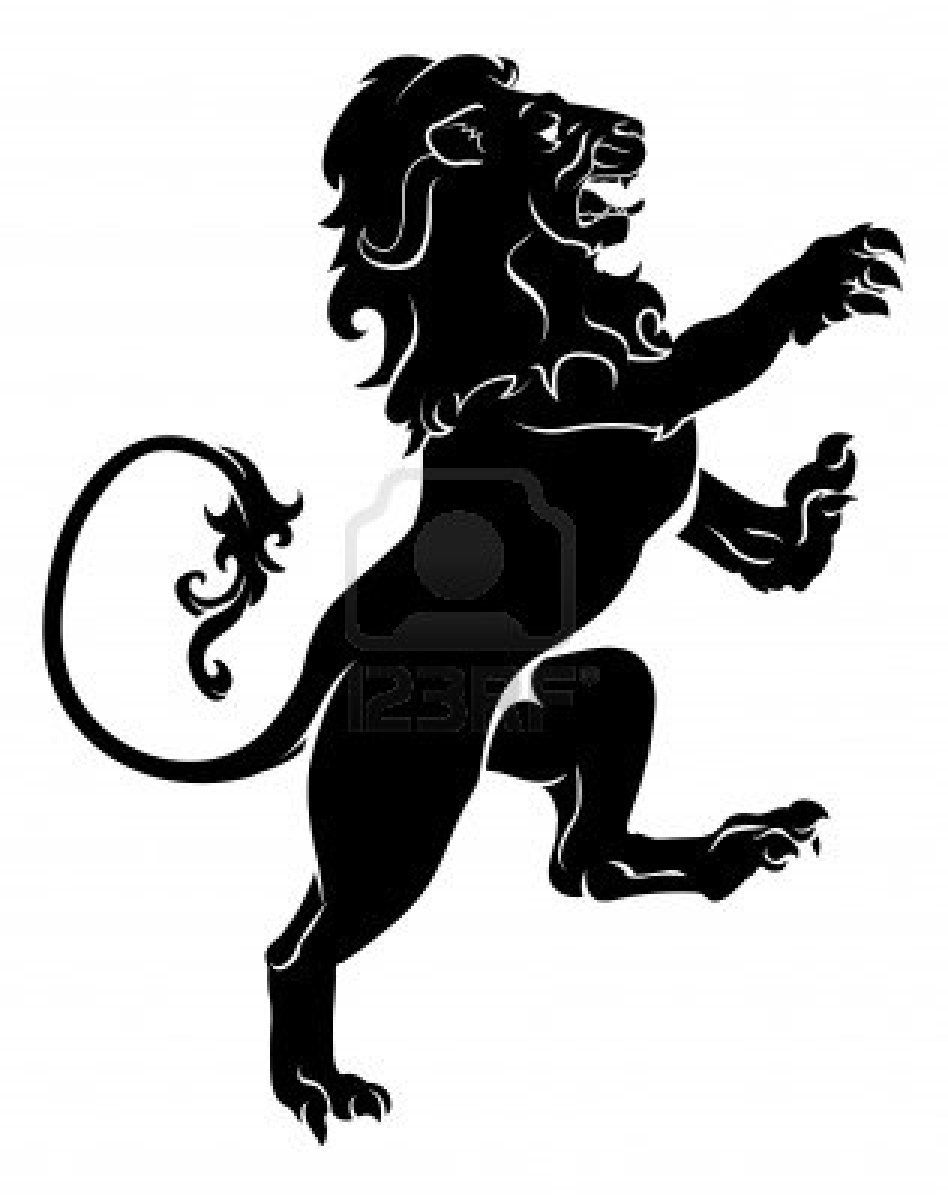 leg silhouette illustration of a heraldic rampant lion on. Black Bedroom Furniture Sets. Home Design Ideas