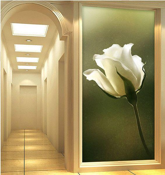 Elegant 3d Wallpaper Nature Wall Mural Rose Photo Wallpaper Hallway ...