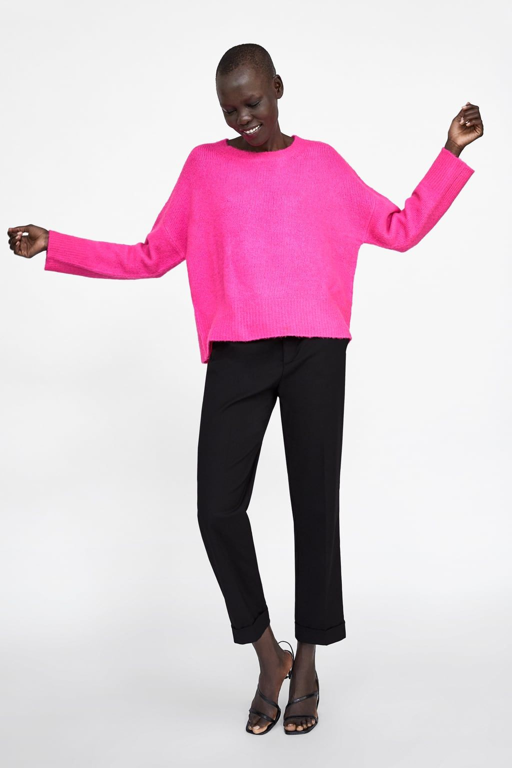 4692b24d Soft feel oversized sweater in 2019 | Brit + Co: Neon | Colourful ...