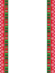 Christmas Ribbons DieCut Christmas Letterhead X Pk