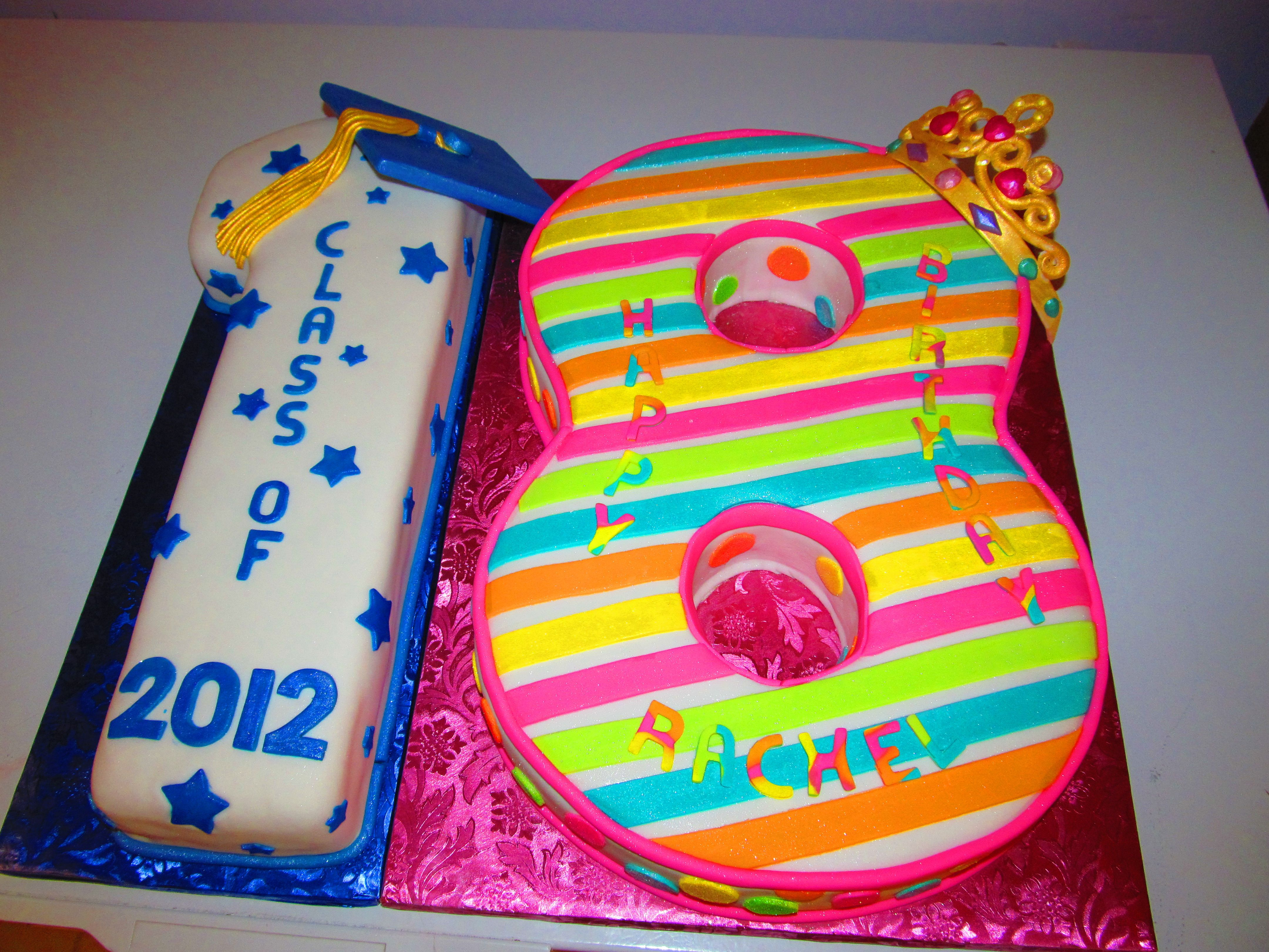 Surprising Graduation Birthday Cake 18Th Birthday And Graduation Cake I Personalised Birthday Cards Beptaeletsinfo