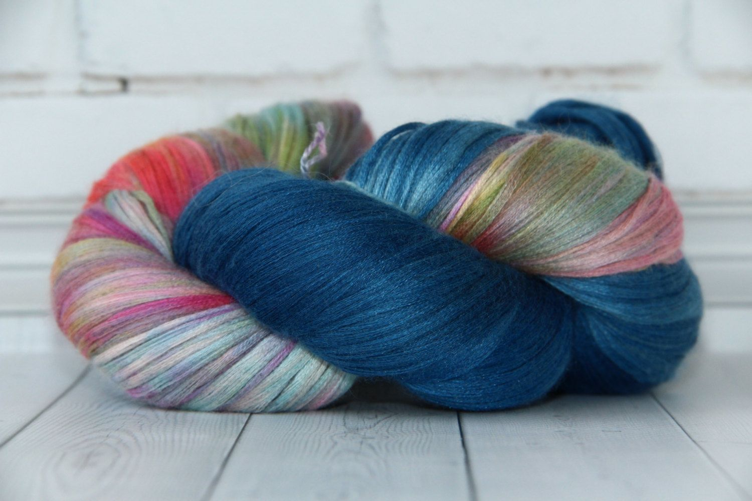 hand dyed yarn,  cashmere/ silk,400 meters/100 grams/ RECIPE WITCH by PositiveCreative on Etsy