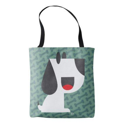 Bark Bark (Green) - Tote Bag - dog puppy dogs doggy pup hound love pet best friend