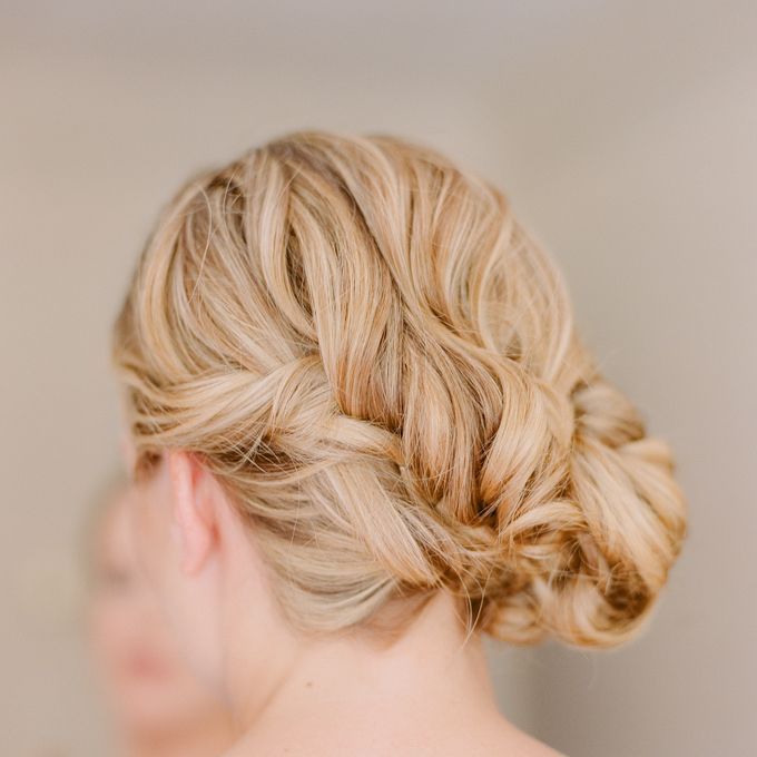 Brides Braided Side Bun Wedding Hairstyle This Has All The Elements