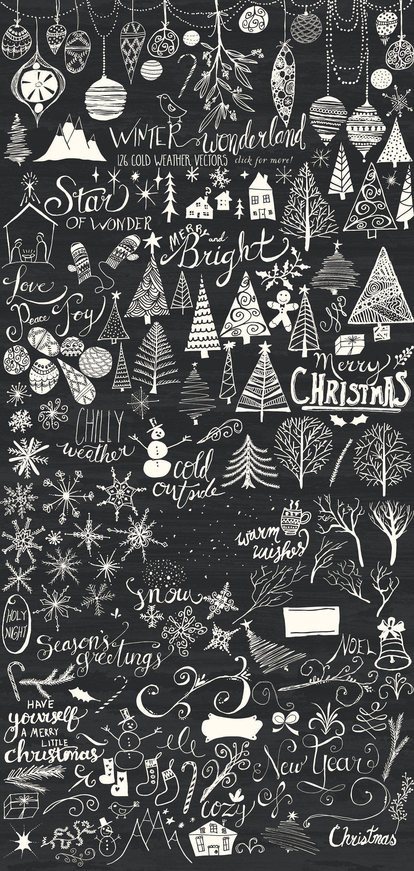Winter Wonderland Bundle   Christmas chalkboard, Christmas art ...