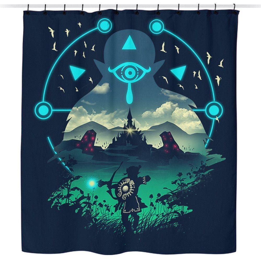 Wild Adventurer Shower Curtain Legend Of Zelda Legend Of