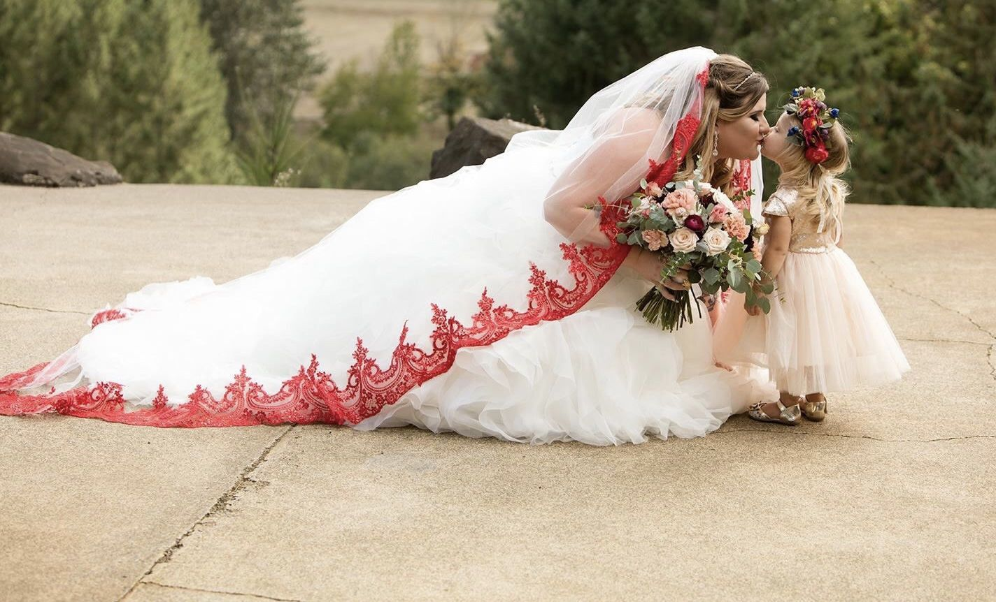 Red Lace Veil Cathedral Veil Red Sequined Lace Red Etsy Red And White Weddings Red Veil Wedding Veils Short [ 862 x 1424 Pixel ]